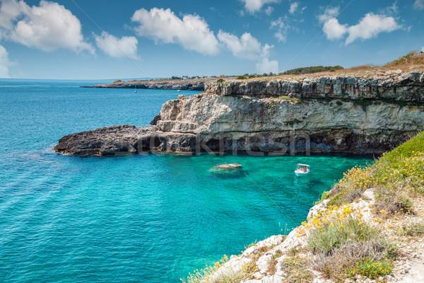 Beautifu Southern coast of Italy Stock photo © tommyandone