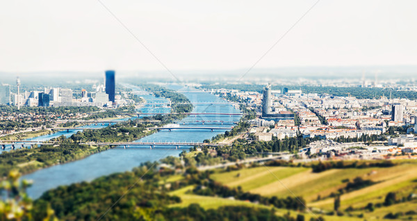 Panoramic view of Vienna, Austria from Kahlenberg Stock photo © tommyandone