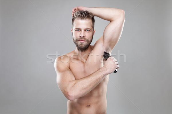 élégant barbu homme corps Photo stock © tommyandone