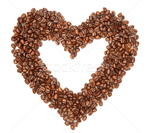 Coffee beans in a shape of hearth Stock photo © tommyandone