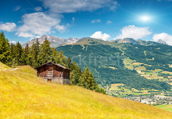 Alpino paisagem verão temporada belo primavera Foto stock © tommyandone