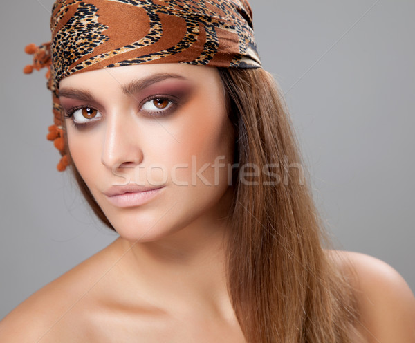 Young beauty with a headscarf Stock photo © tommyandone