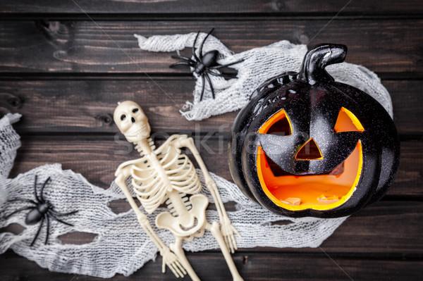 Traditionellen scary Halloween Urlaub Feuer Stock foto © tommyandone