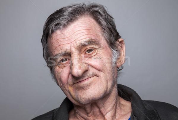 Portriat of an elderly man Stock photo © tommyandone