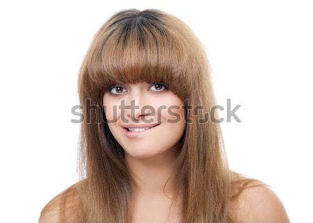 Goreous beauty with messy hair Stock photo © tommyandone