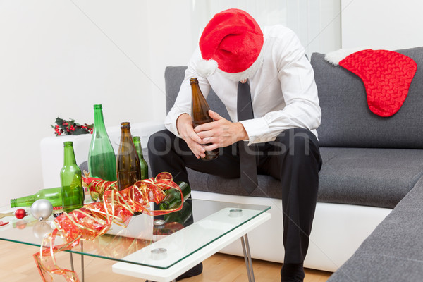 Alcohol abuse during holiday period Stock photo © tommyandone