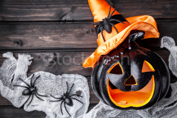 Tradizionale scary halloween vacanze fuoco Foto d'archivio © tommyandone