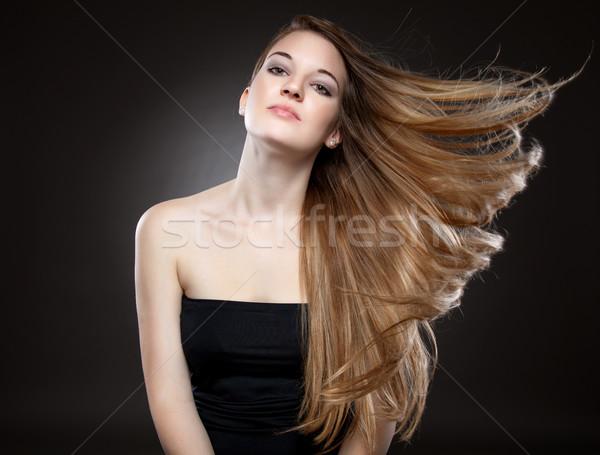 красивая женщина длинные волосы сильный долго женщину Сток-фото © tommyandone