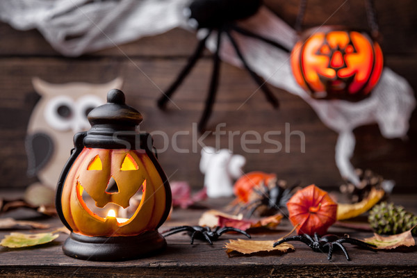 Traditioneel scary halloween vakantie brand Stockfoto © tommyandone