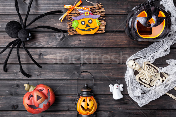 Traditional scary halloween holiday background Stock photo © tommyandone