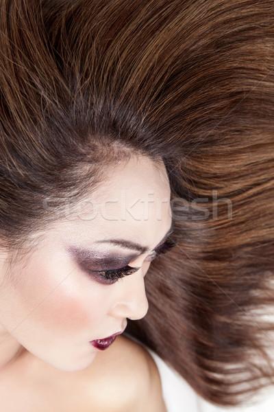 Mooie jonge thai vrouw lang elegante Stockfoto © tommyandone