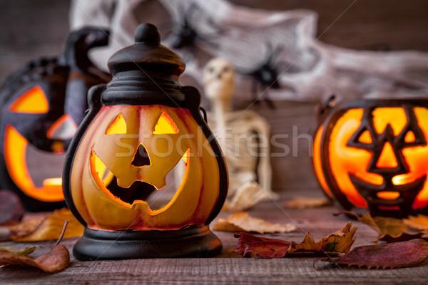 Geleneksel korkutucu halloween tatil yangın Stok fotoğraf © tommyandone