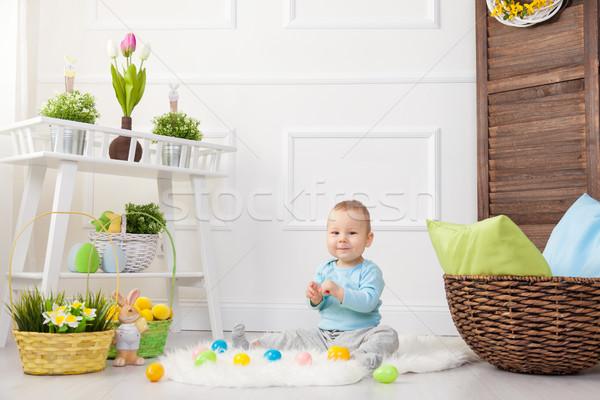 イースターエッグハント 愛らしい 子 演奏 イースターエッグ ホーム ストックフォト © tommyandone