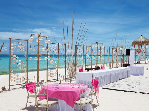 Luxury wedding on a beach Stock photo © tommyandone
