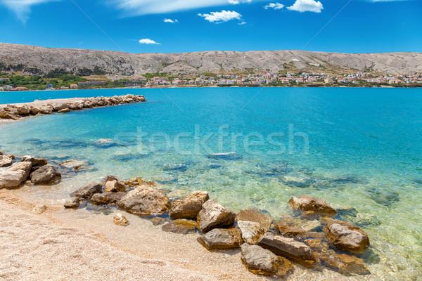 Beautiful beach on Croatian island Pag Stock photo © tommyandone