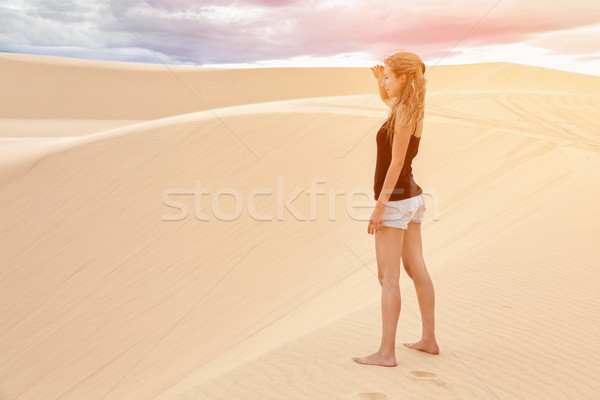Sabbia bianca Vietnam noto natura panorama estate Foto d'archivio © tommyandone