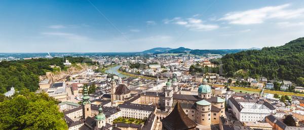 Panoramiczny widoku piękna miasta niebo krajobraz Zdjęcia stock © tommyandone