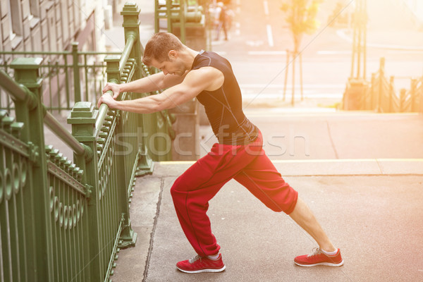 Stock photo: Outdoor fitness concept in the city
