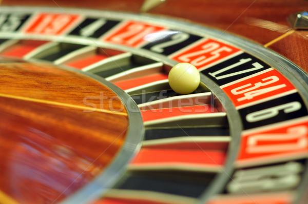 Roleta imagem cassino bola número 17 Foto stock © tony4urban