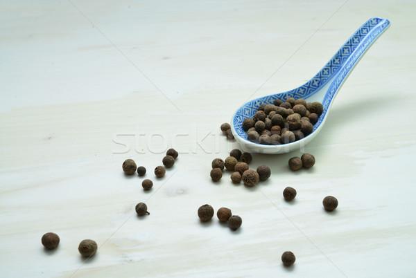 allspice seeds spoon Stock photo © tony4urban