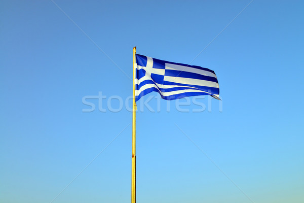 greece pole flag Stock photo © tony4urban