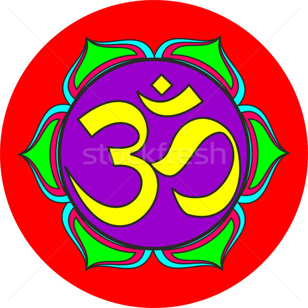 om sacred sound symbol Stock photo © tony4urban
