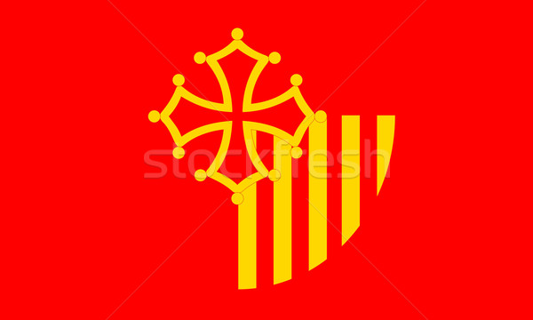 Languedoc Roussillon flag Stock photo © tony4urban
