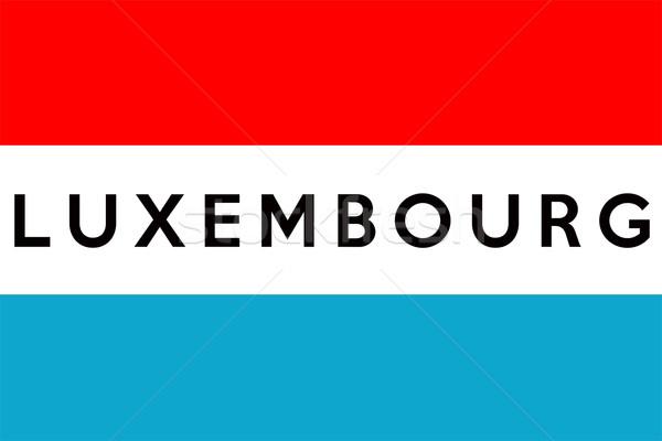 Vlag Luxemburg groot maat illustratie land Stockfoto © tony4urban