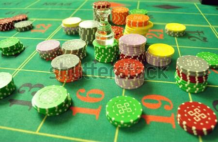 Сток-фото: фишки · казино · изображение · казино · рулетка · таблице · макет
