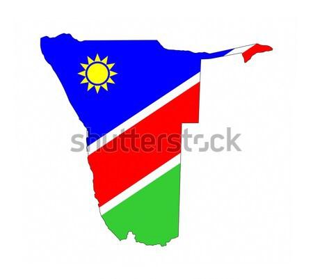 Namibya bayrak harita ülke biçim Stok fotoğraf © tony4urban