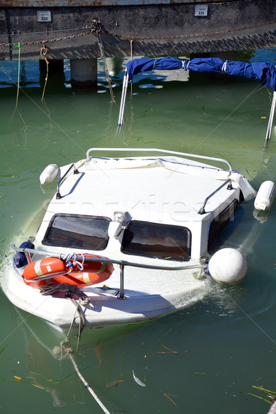 sunken yacht Stock photo © tony4urban