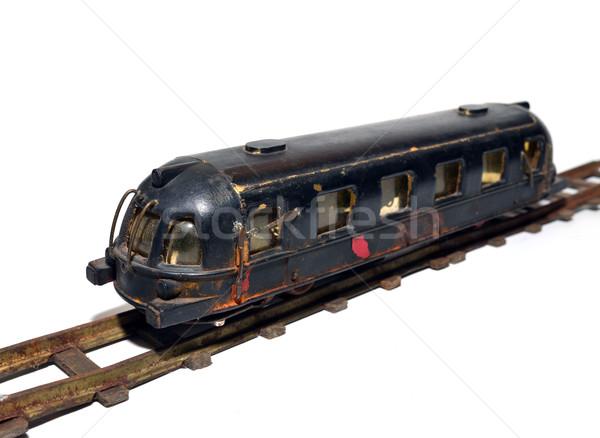 Vintage trein speelgoed oude metaal communist Stockfoto © tony4urban