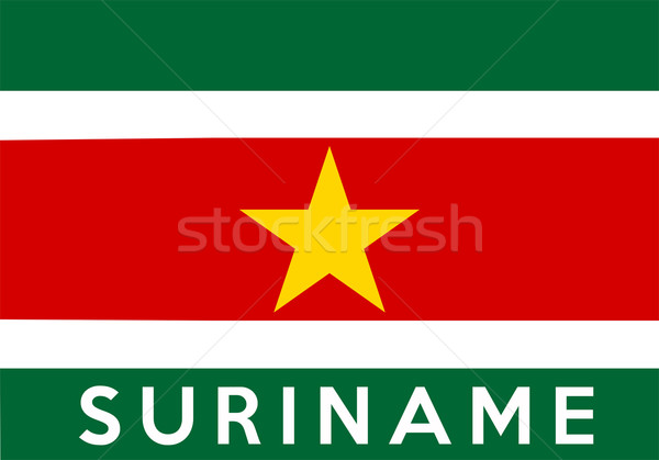 флаг Суринам большой размер иллюстрация стране Сток-фото © tony4urban