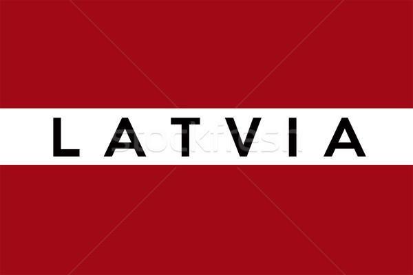 Vlag Letland groot maat illustratie land Stockfoto © tony4urban
