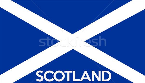 Bandera Escocia grande tamaño ilustración país Foto stock © tony4urban