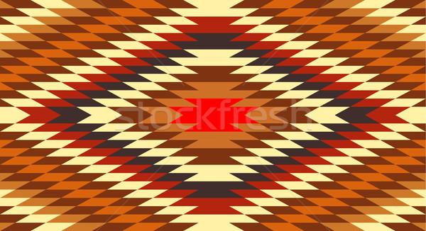 Americano nativo tradizionale etnica costume motivo Foto d'archivio © tony4urban