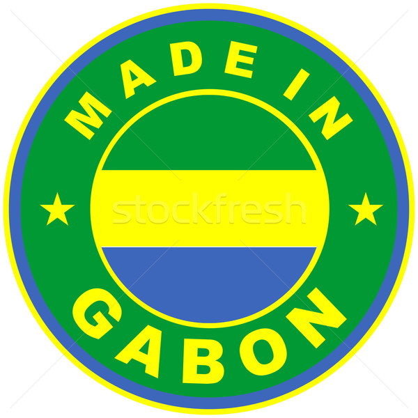 Gabon grand taille pays étiquette signe Photo stock © tony4urban