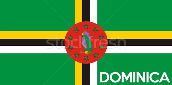 Bandeira Dominica grande tamanho ilustração país Foto stock © tony4urban