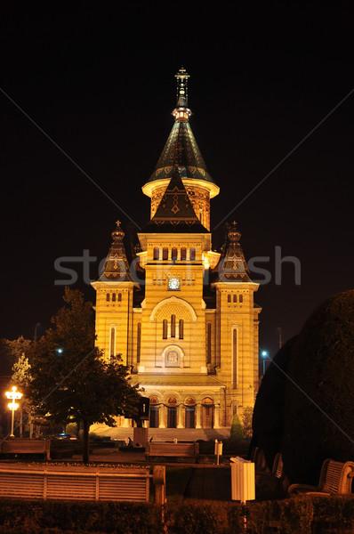 Сток-фото: собора · город · Румыния · ориентир · архитектура