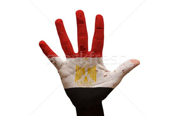 Stock photo: palm flag egypt