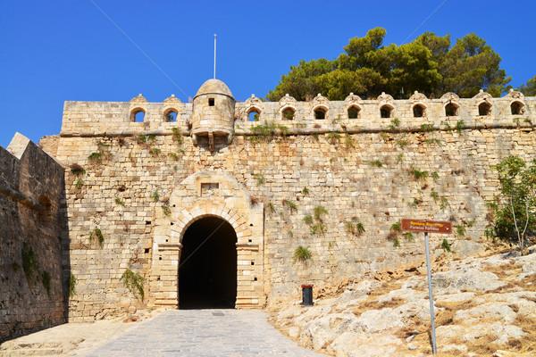 Forteresse principale porte ville Grèce repère Photo stock © tony4urban