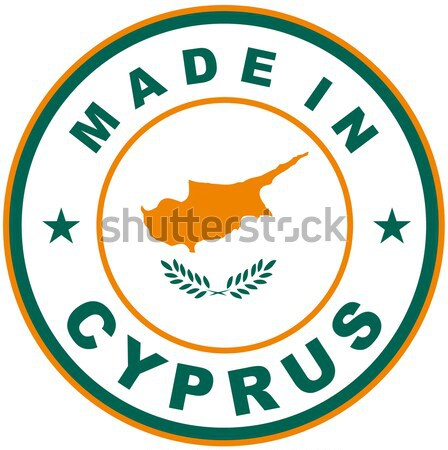 Cyprus groot maat land label Stockfoto © tony4urban
