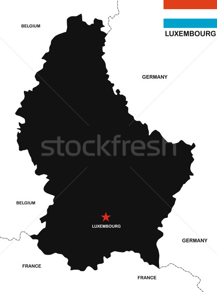 luxembourg map Stock photo © tony4urban