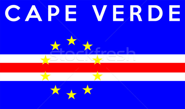 flag of cape verde Stock photo © tony4urban