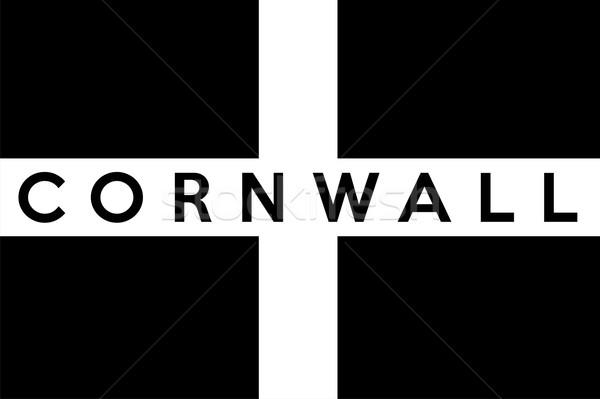 Cornwall bayrak büyük boyut insanlar etnik Stok fotoğraf © tony4urban