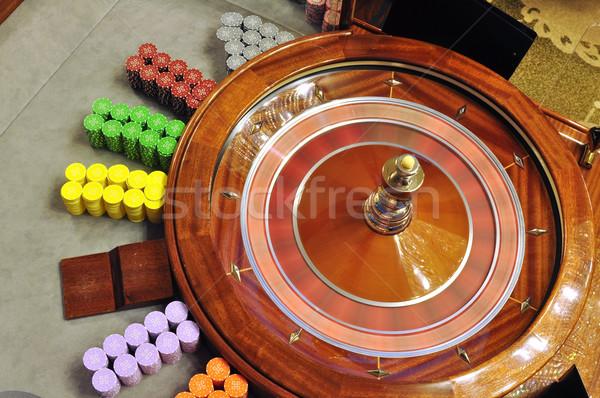 Roleta imagem cassino bola jogar Foto stock © tony4urban