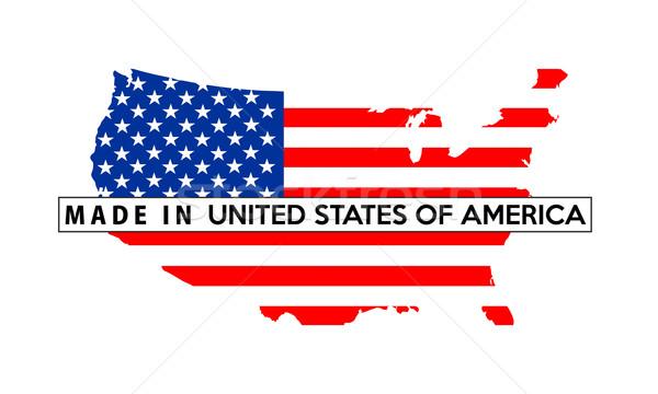 USA land vlag kaart vorm illustratie Stockfoto © tony4urban