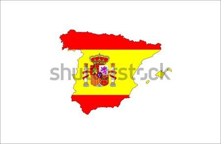 spain flag map Stock photo © tony4urban