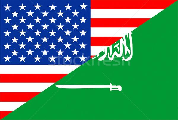 EUA Arábia Saudita Estados Unidos américa metade país Foto stock © tony4urban