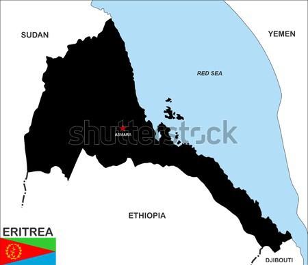 Costa Rica mapa político país bandera ilustración Foto stock © tony4urban